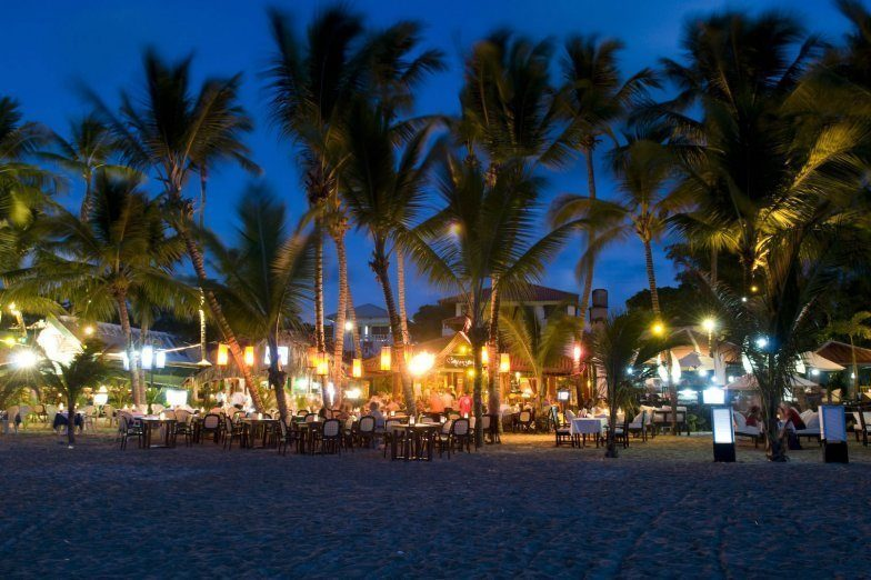 Dining on Cabarete Beach